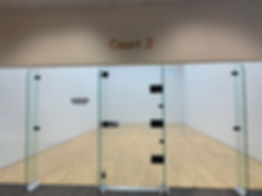 Racquetball court at Treehouse Athletic Club
