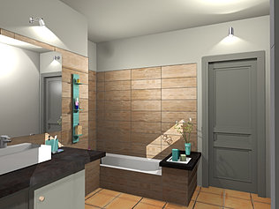 Leamichaud Salle De Bain Z - Perspective salle de bain