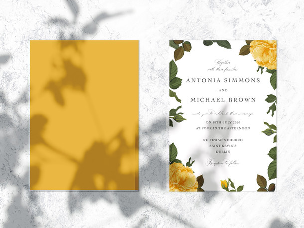 Invitation Mellow Yellow 3