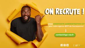 On recrute un(e) assistant(e) administrative