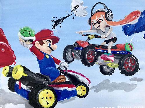 Mario Kart Painting - $125