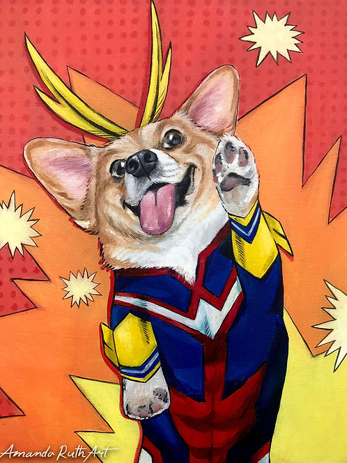 AllMight Corgi Painting - $100