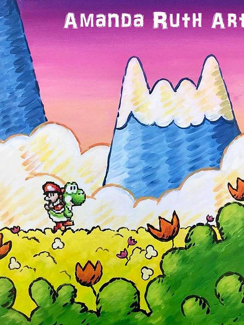 Yoshi's Island Painting - $150