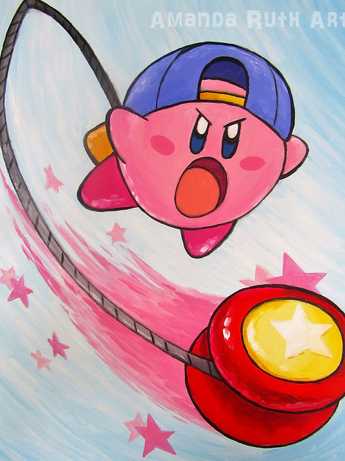 Kirby YoYo Original Painting - $150