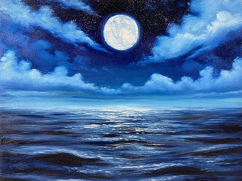 Blue Moon Seascape