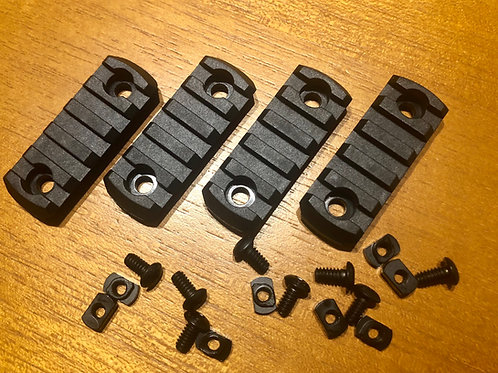 Set de 4 rieles para M-lok polímeros