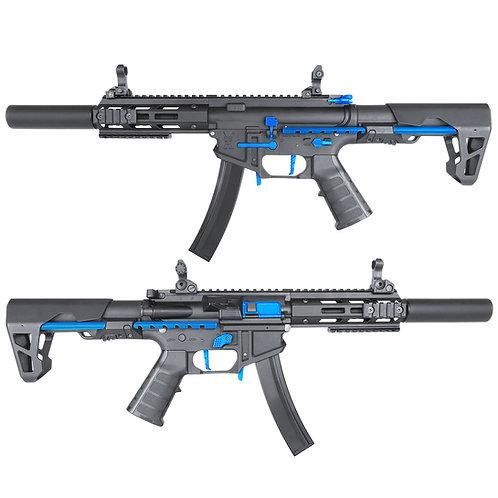 King Arms PDW 9mm SBR SD - Black & Blue Edition