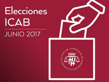 Elecciones a Decano ICAB 2017