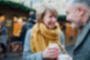 Enjoying-Coffee-At-The-Christmas-Market-