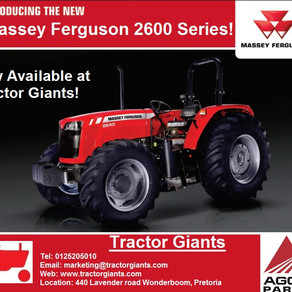 New Massey Ferguson 2600 Range now available at Tractor Giants! Your number one MF outlet.