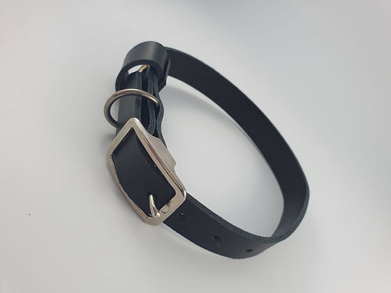 Lederhalsband M