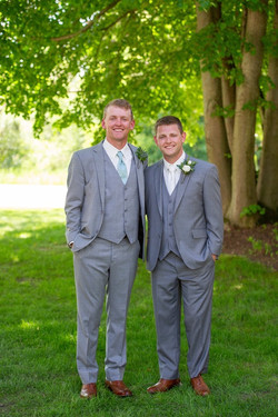 Jason with his Best Man