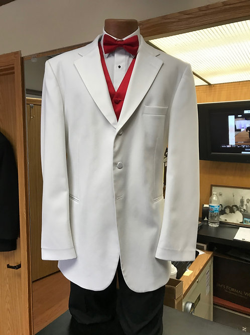 White 3 Button Tuxedo Jacket