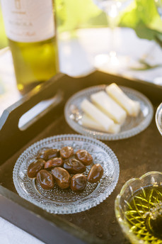 Local olives and yellow cheese