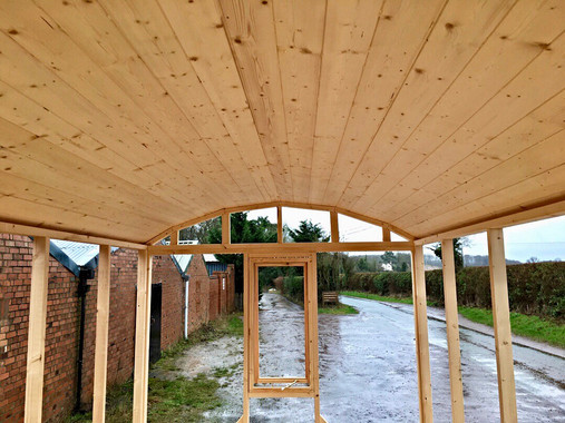Shepherd's Hut Kit Inside View