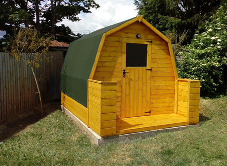 A Lodge Pod Recently Completed in Suffolk