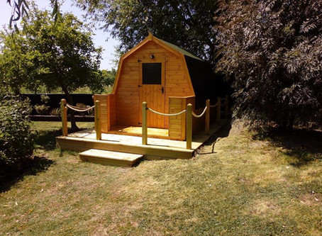 A New 3-Berth Lodge Pod Fitted Recently for a Customer in Buckinghamshire