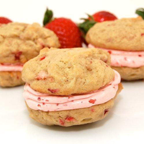 Strawberries & Cream Whoop Whoop Pies