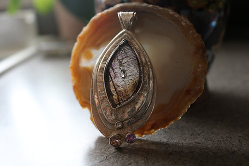 Super 7 Smoky Quartz Pendant