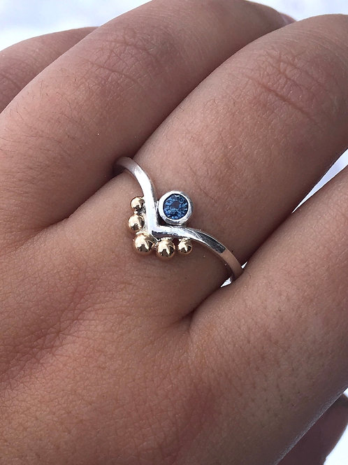 Montana Sapphire V Band Ring