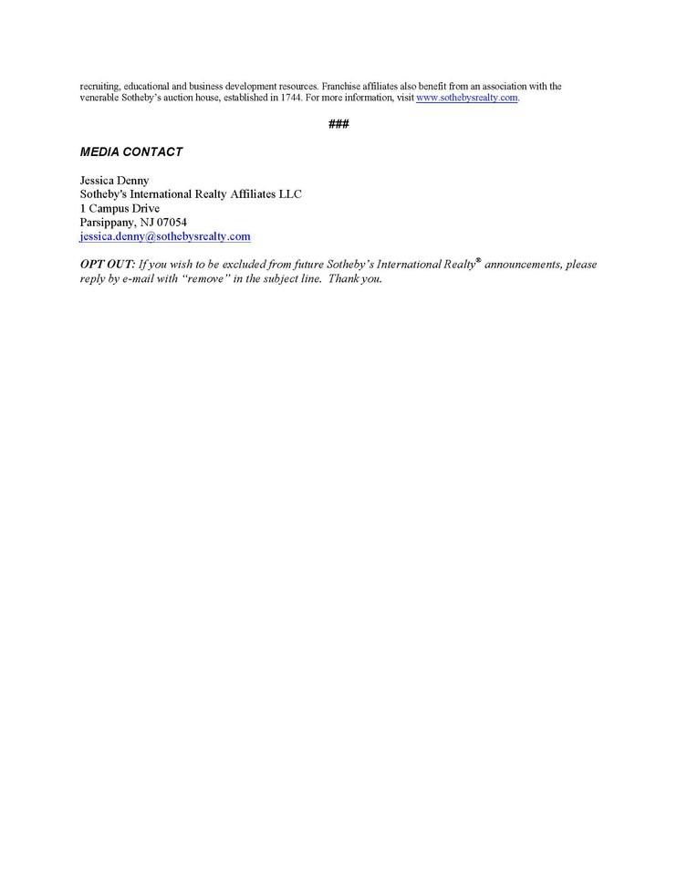 [SIR] PRESS RELEASE- SIR Grows International Network 02/09/2009 p2