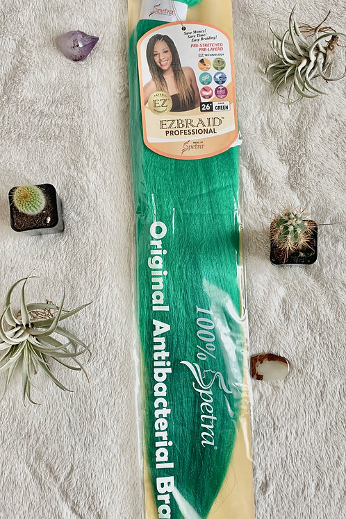 """26"""" Pre-Stretched Braid in Green"""
