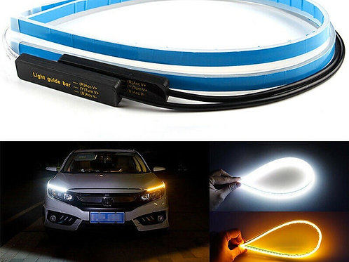 2pcs LED Car Headlight Strip - Waterproof & Flexible