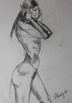 Nadja Solovieva, Nude Study