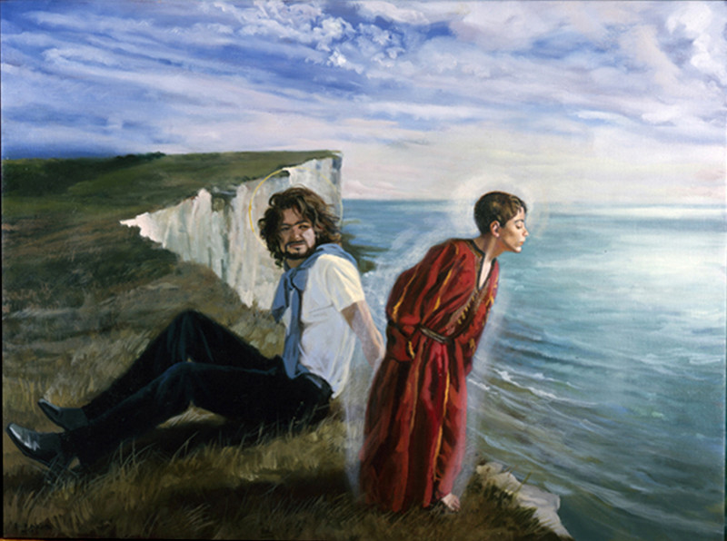Jesus and Saint Joseph at Beachy Head