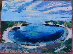 Lulworth Cove II, Acrylic on Canvas, 23 x 30.5 cm