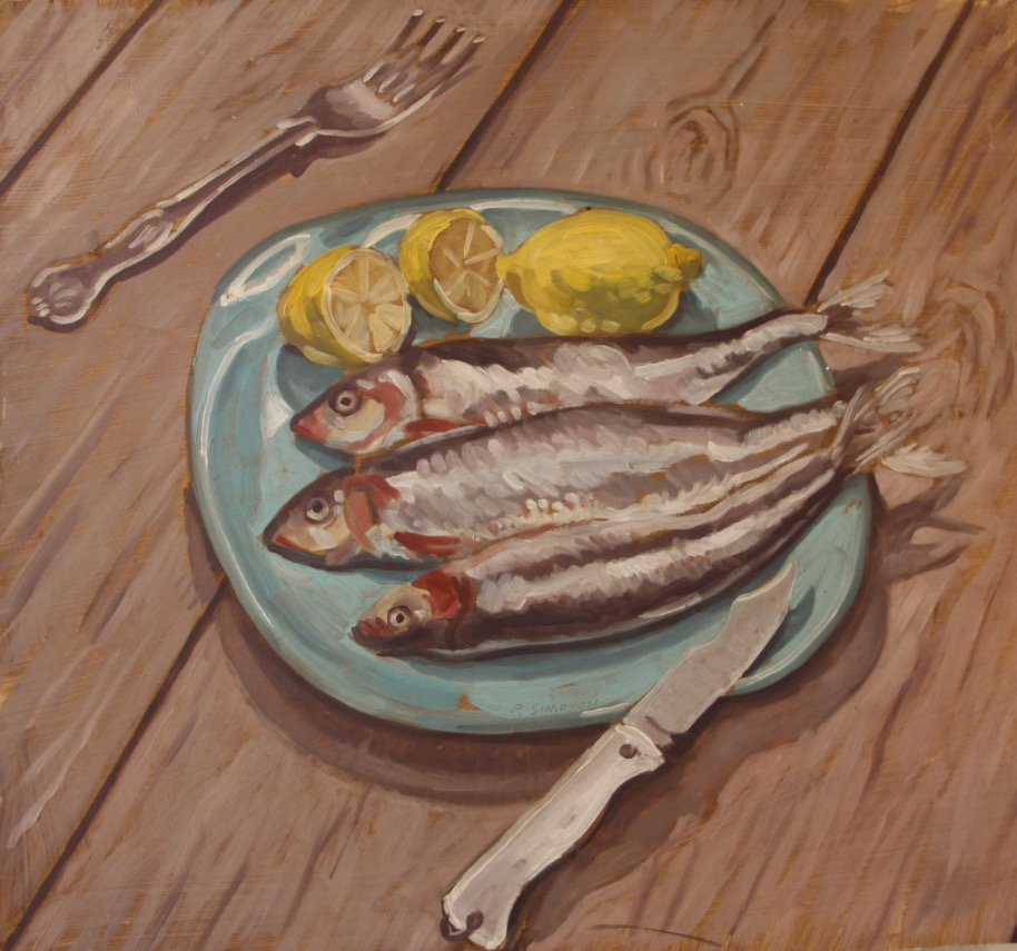 Paul Simonon, Fish on a Plate
