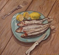 Paul Simonon, Fish on a Plate