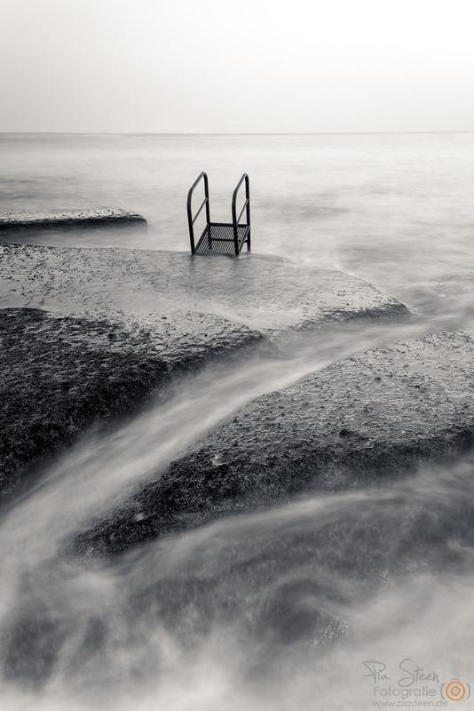 Leiter im Meer