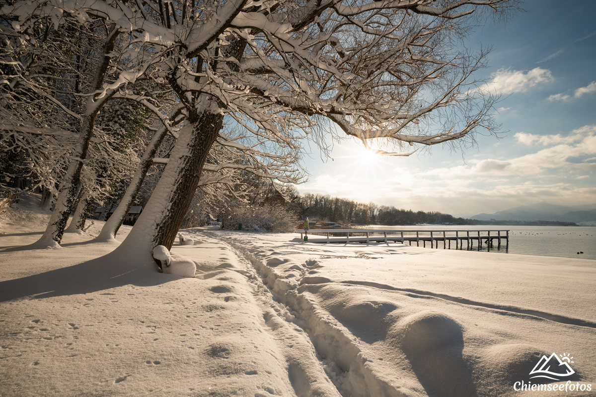 Winterlandschaft am Chiemsee