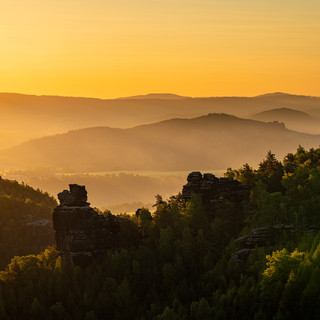 Felsen Elbsandsteingebirge