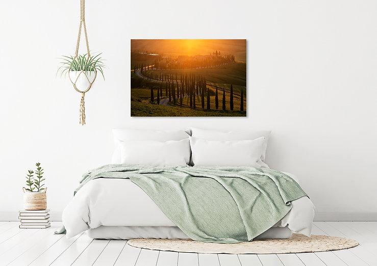Schlafzimmer mit Bild