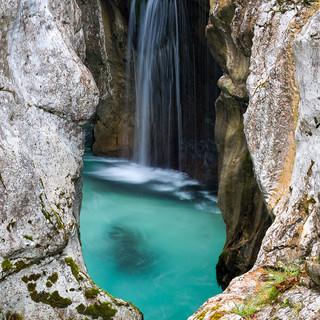 Slowenien Wasserfall