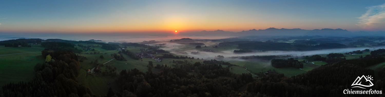 Herbstmorgen im Chiemgau