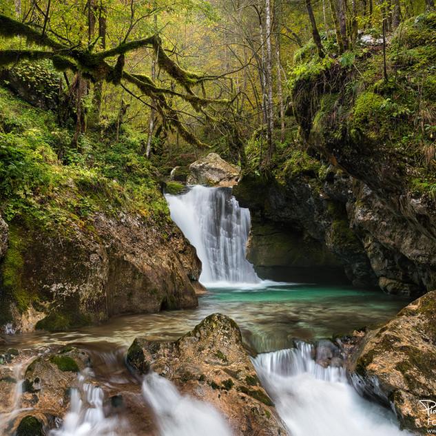 Wasserfall Slowenien