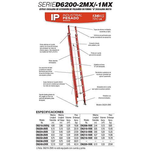 Extensi�n F.V. Tipo IA 28 Esc 9.75 No. De modelo D6232-2MX