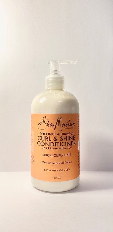 Shea moisture curl and shine conditioner in afro hair care shop