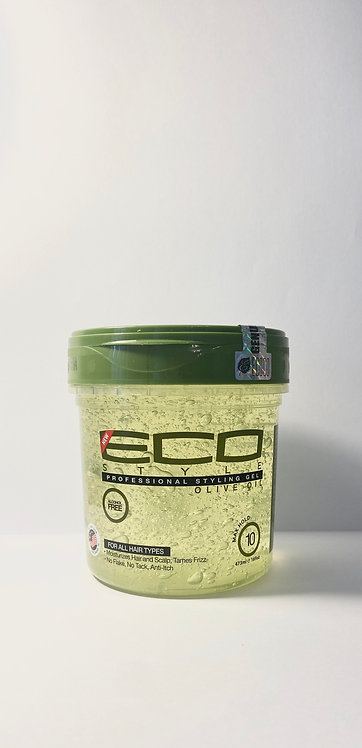 eco style gel olive oil in afro hair care shop