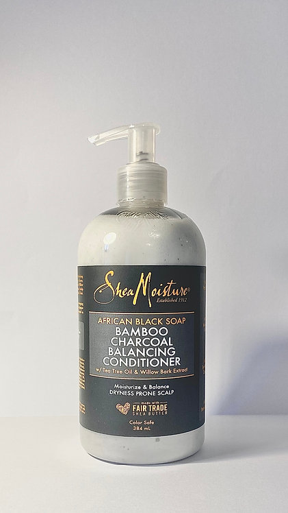Shea moisture african black soap conditioner in afro hair care shop