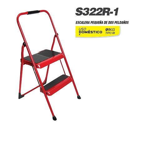 Taburete acero Rojo Tipo II 2 pelda�os S322R-1