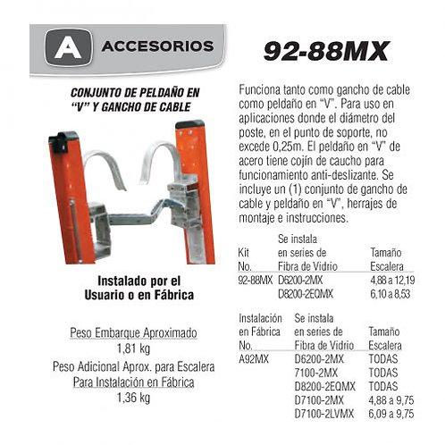 """Conjunto Pelda�o En """"V"""" y Gancho No de modelo 92-88MX"""