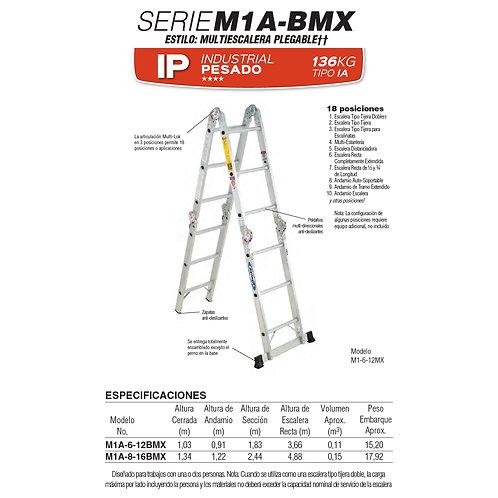 Multiposiciones Alum Tipo IA 8 ft 2.44m No. De modelo M1A-8-16BMX