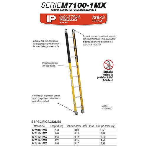 Recta p/alcantarilla F.V. Tipo IAA 10 Esc 3.05m No. De modelo M7110-1MX