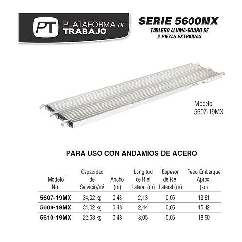 Plataforma /Tablero Alum Board 2,44 m No. De moelo 5608-19MX