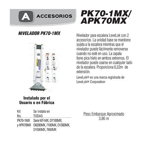 Nivelador Levelok No. De modelo PK70-1MX