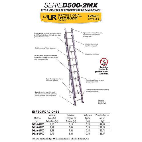 Extensi�n Alum Tipo IA 24 Esc 7.32 Npo. De modelo D1524-2MX